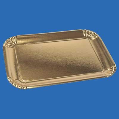 Scatolificio Martinelli Srl: robusti vassoi oro per pasticceria, prodotti con carte di alta qualità e utilizzando una moderna tecnica di termoformatura